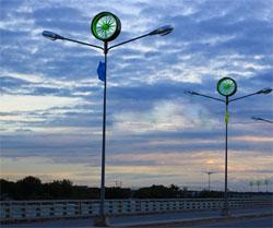 windmolen op straatverlichting