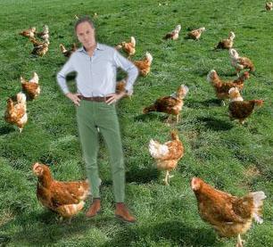 Jort Kelder in kippen