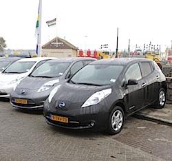 Nissans Leaf voor deelauto project Terschelling