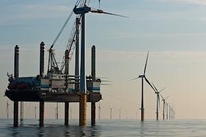 bouw windpark op zee