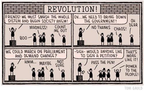 Revolution, by Tom Gauld