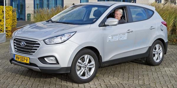 Hyundai i35 waterstof auto waterstofeconomie
