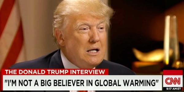 donald trump over klimaatverandering