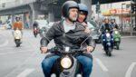 Nieuwe e-scooter voor schoon stadsvervoer