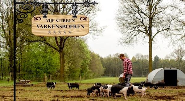 diervriendelijke vijfsterren varkensboeren varkens in nood