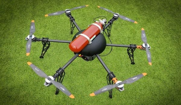 drone op waterstof