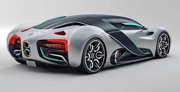 Elektrische supercar op waterstof rijdt 1600 km op een tank